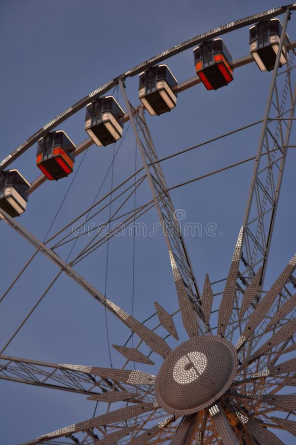 Roue de paris (ferry wheel) in Ghent, Christmas royalty free stock photo