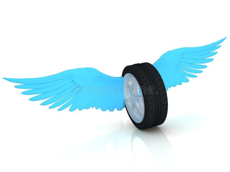 Roue de pneu de v hicule avec des ailes image stock for Concevez vos propres plans de garage gratuitement