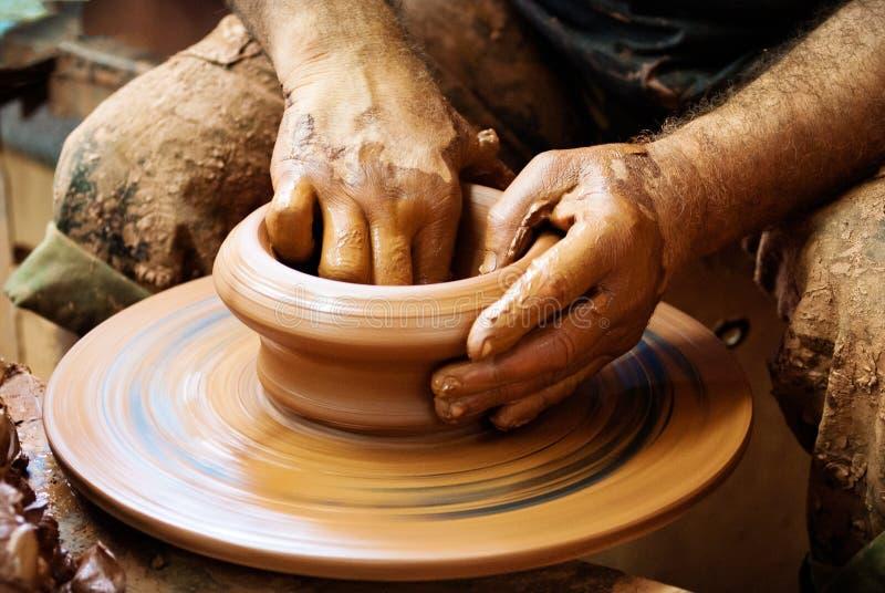 roue de poterie images libres de droits
