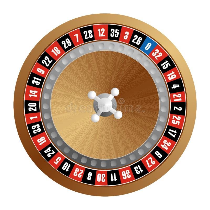 Roue de roulette illustration de vecteur