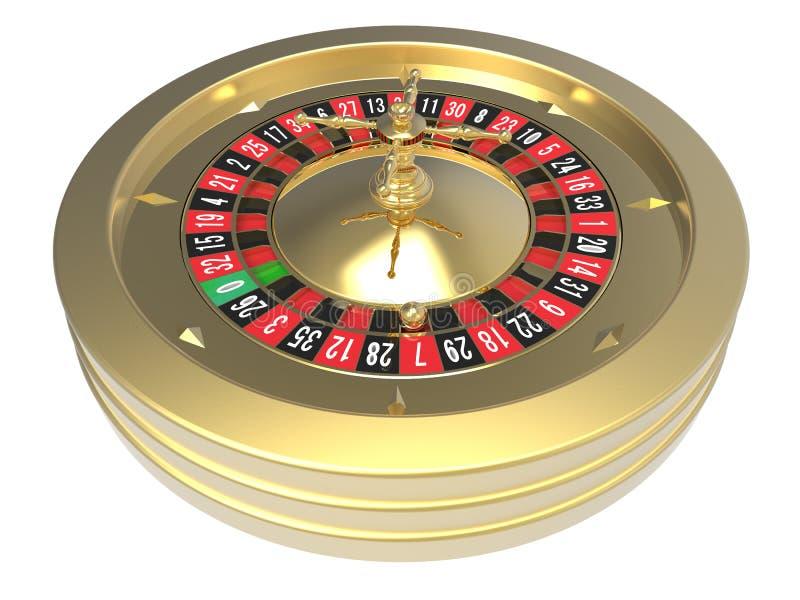 Roue de roulette de casino illustration de vecteur