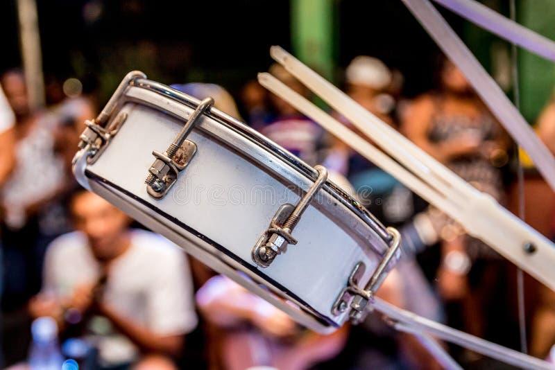 Roue de samba avec le tambour de basque photos libres de droits
