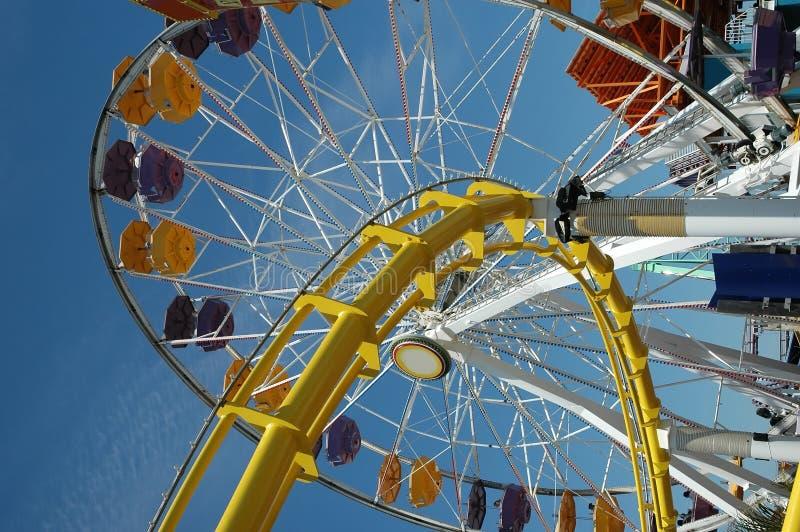 Roue de Santa Monica Ferris images libres de droits