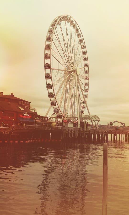 Roue de Seattle Ferris photographie stock libre de droits