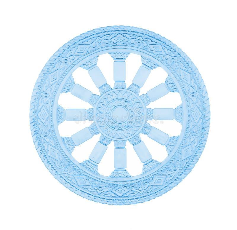 Roue de symbole de bouddhisme de durée images libres de droits