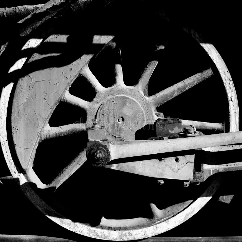 Roue de train photographie stock libre de droits