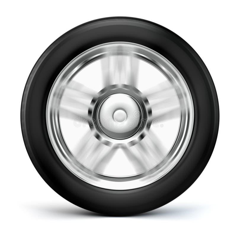 roue du pneu 3d et de l'alliage illustration de vecteur