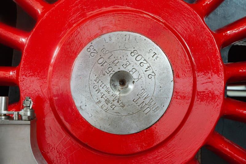 Roue en acier locomotive images libres de droits