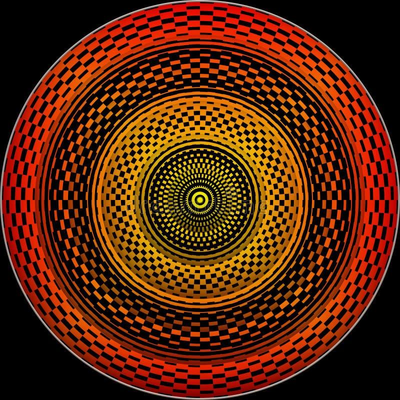 Roue hypnotique illustration libre de droits