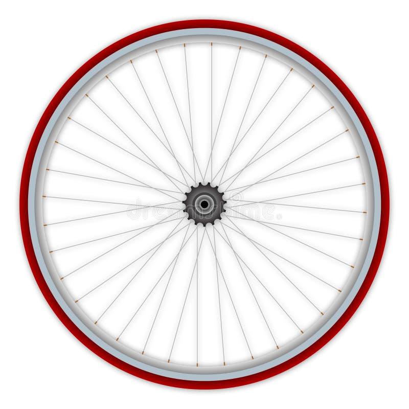 roue simple de vitesse de bicyclette illustration de vecteur