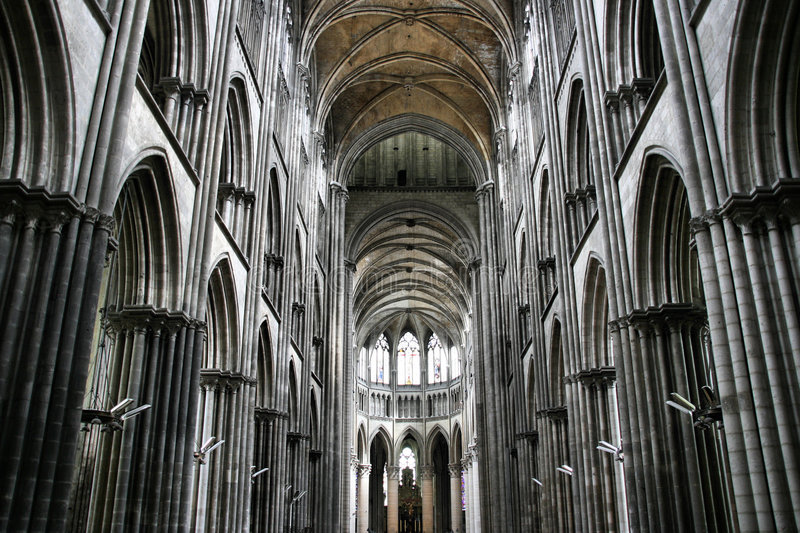 Rouen cathedral royalty free stock images