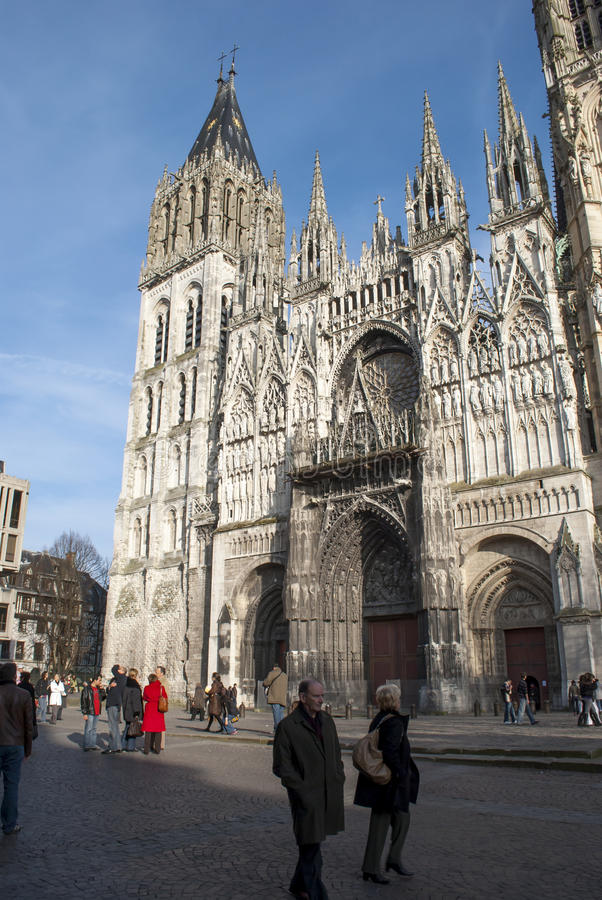 Rouen Cathedral France stock images
