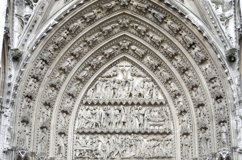 Rouen - de buitenkant van de Kathedraal royalty-vrije stock afbeeldingen