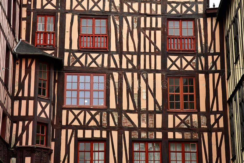 Rouen, France - 26 novembre 2016 : le centre de la ville historique image libre de droits