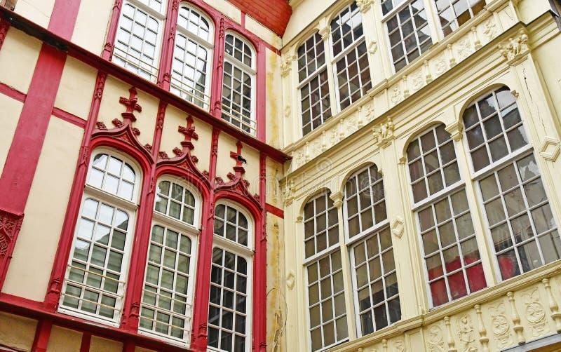 Rouen, France - 26 novembre 2016 : le centre de la ville historique images stock