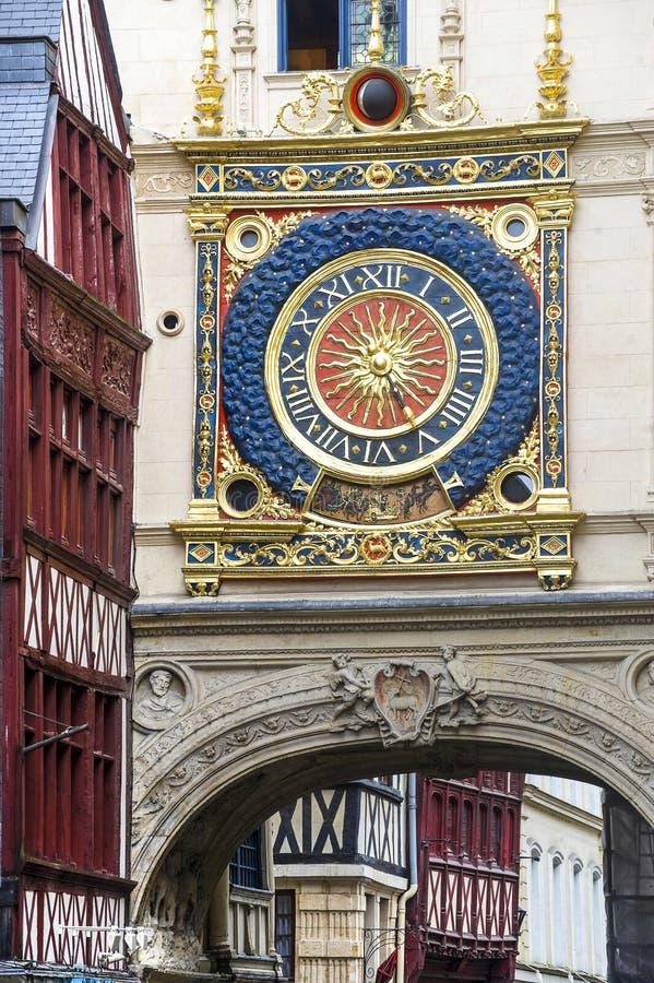 Rouen - horloge historique photographie stock libre de droits