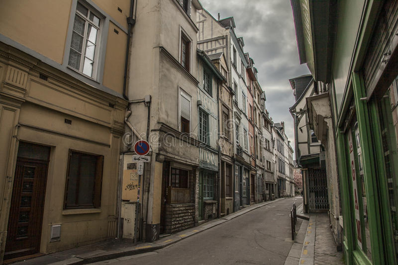 Rouen, Normandy, France, Europe - a street. royalty free stock photo
