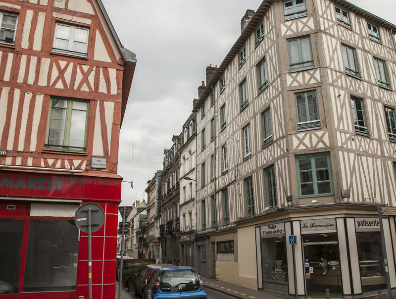 Rouen, Normandy, France, Europe - townhouses. stock photography