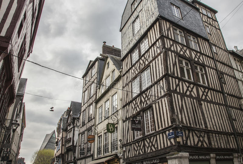 Rouen, Normandy, France, Europe - traditional houses. royalty free stock photo