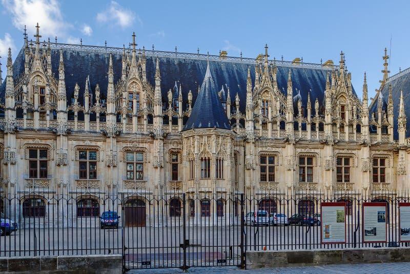 Rouen pałac sprawiedliwość, Francja obrazy royalty free