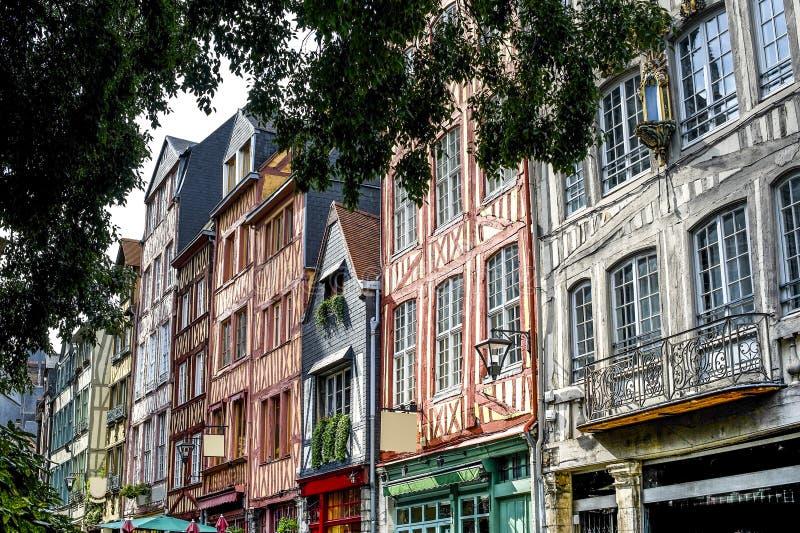 Rouen - Powierzchowność antyczni domy obraz royalty free