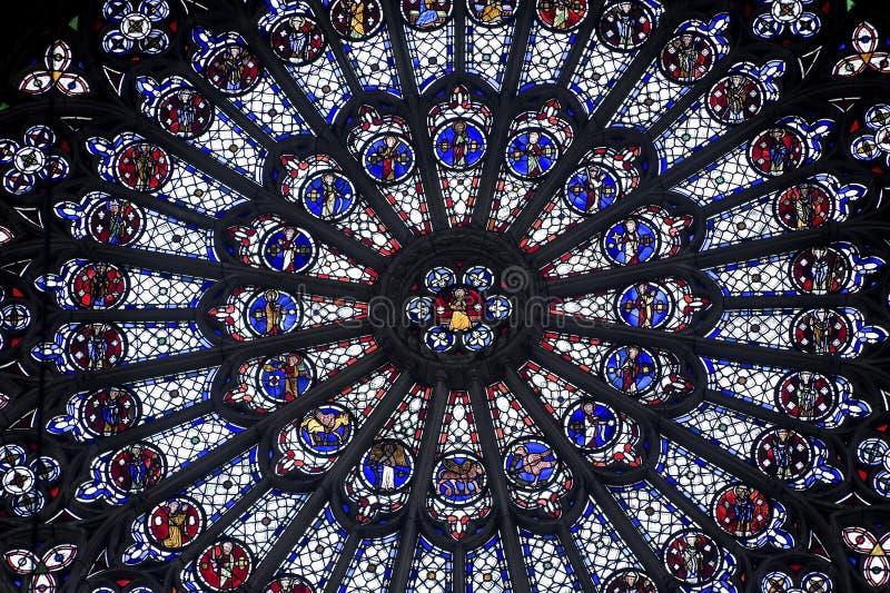 Rouen - Różany okno zdjęcia royalty free