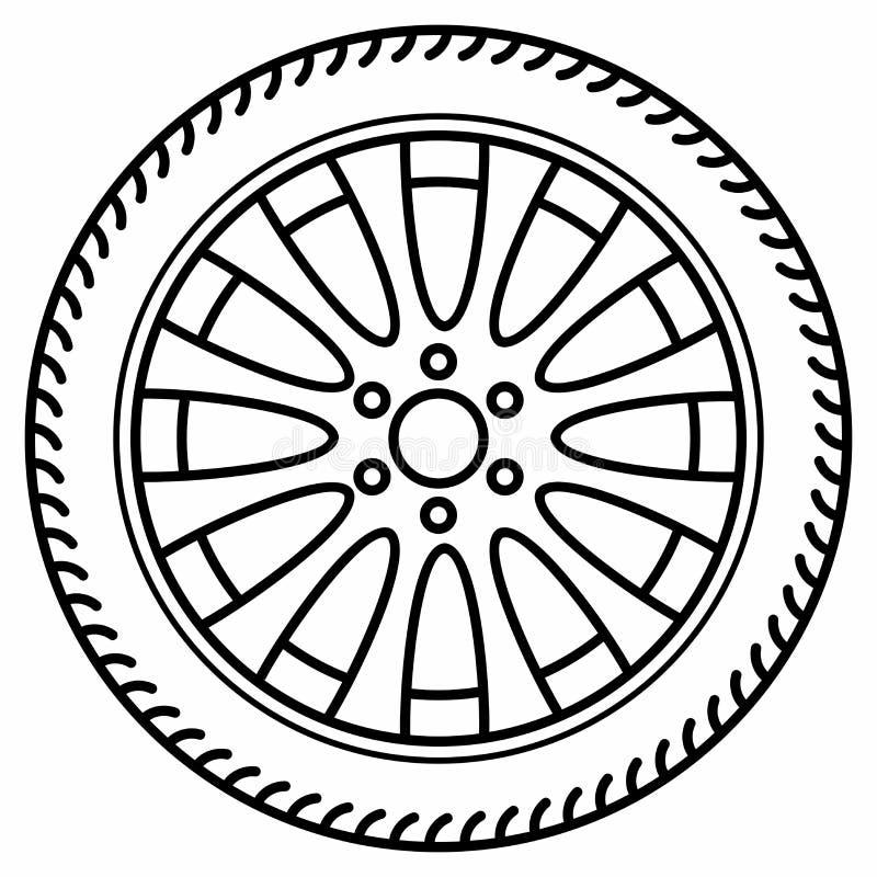 Roues à disque automatiques de roue Rim Tire Disc illustration libre de droits