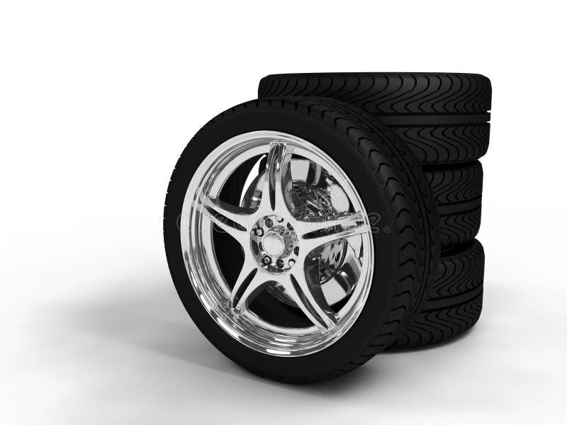 roues illustration de vecteur