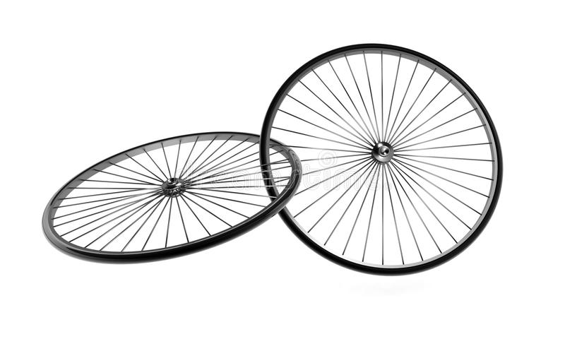 Roues de bicyclette illustration stock