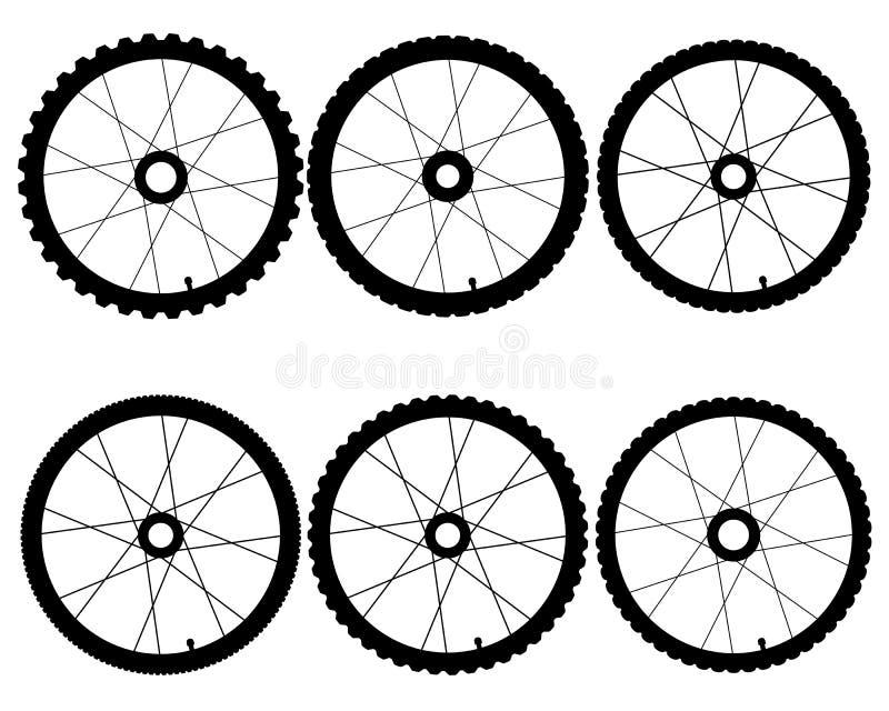 Roues de bicyclette illustration stock
