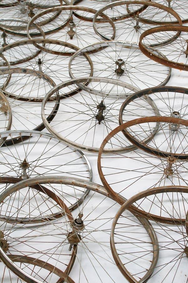 Roues de bicyclette photo stock