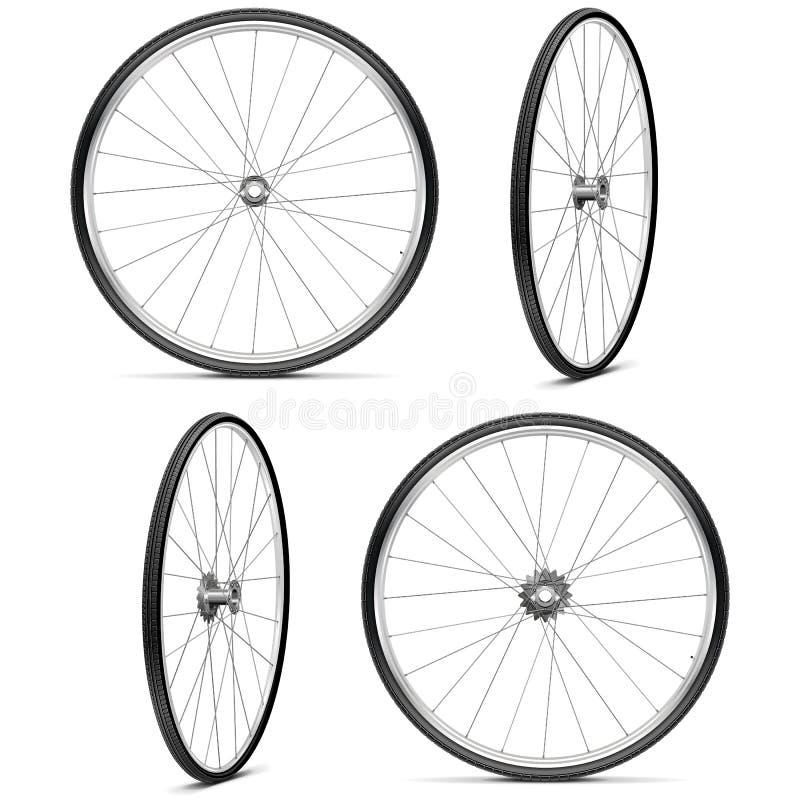 Roues de bicyclette de vecteur illustration de vecteur
