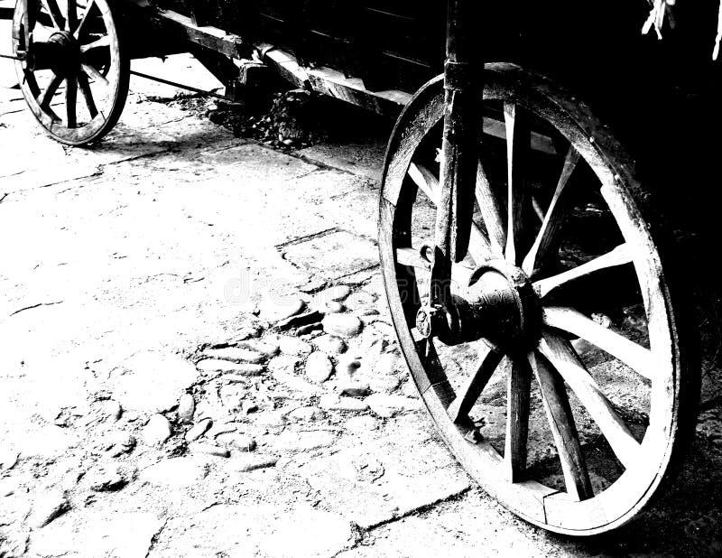 Roues De Chariot Antiques Images stock