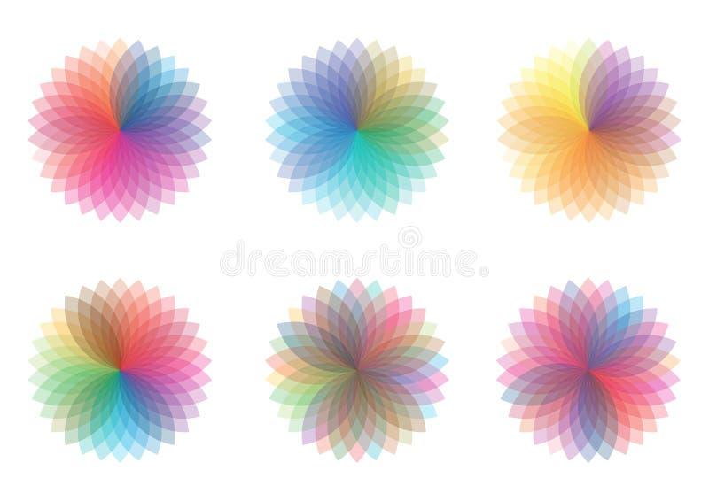 Roues de couleur illustration stock
