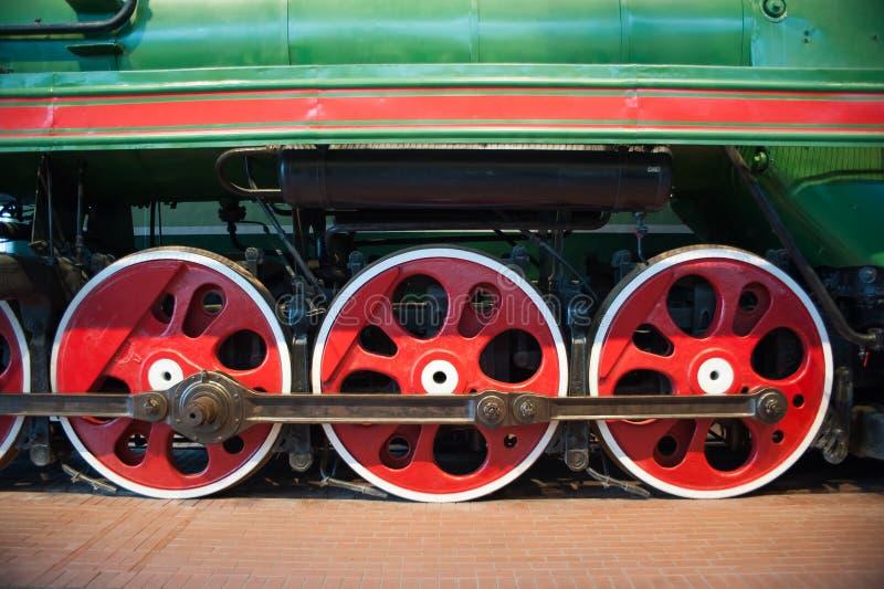 Roues de locomotive à vapeur photo libre de droits