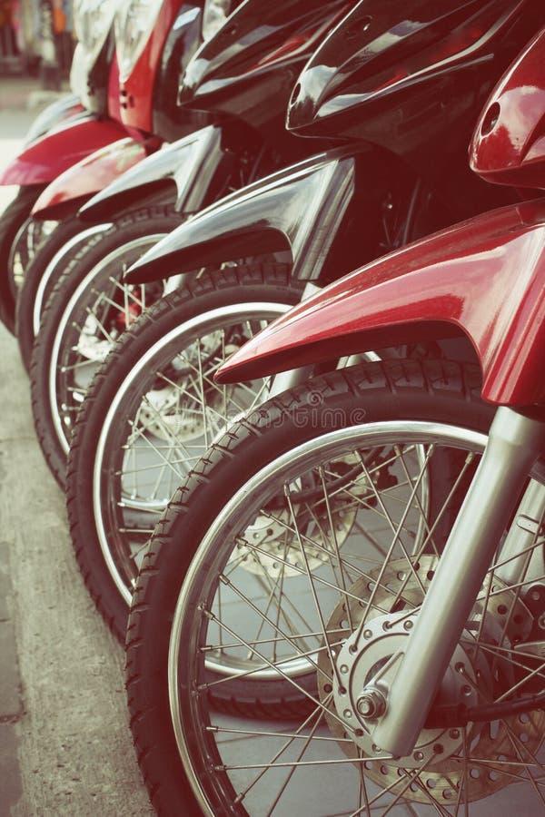 Roues de motos photographie stock