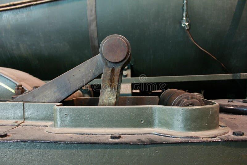 Roues de piston d'une locomotive à vapeur image libre de droits