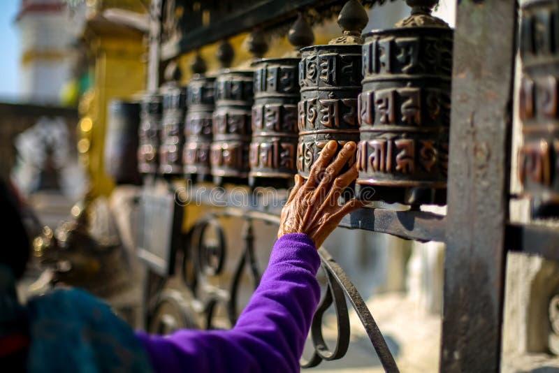 Roues de prière bouddhistes photo stock