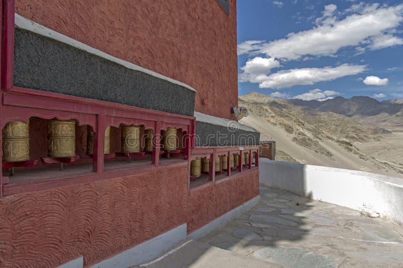Roues de prière bouddhistes, Ladakh images libres de droits