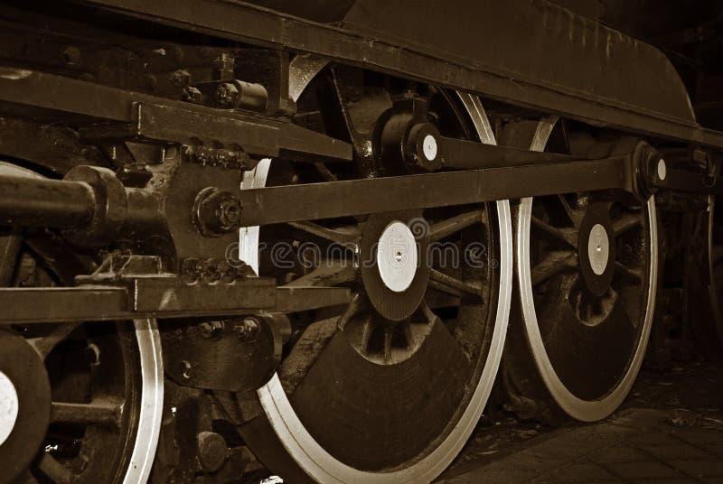 Roues de train de vapeur photos stock