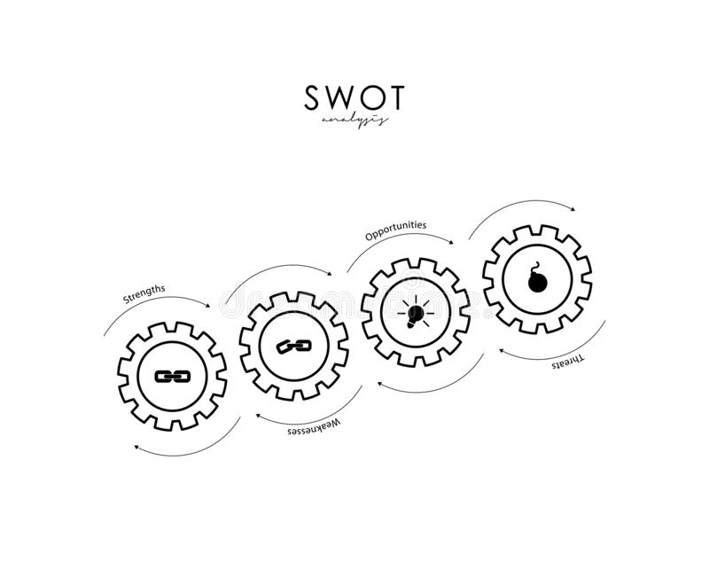 Roues dentées à l'arrière-plan industriel d'abrégé sur engagement du BÛCHEUR illustration stock
