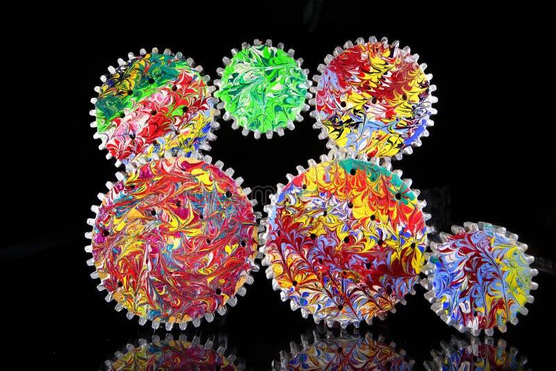 Roues dentées colorées image libre de droits
