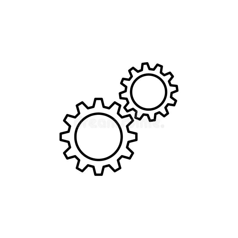 Roues dentées, icône d'ensemble de vitesses Peut être employé pour le Web, logo, l'appli mobile, UI, UX illustration libre de droits