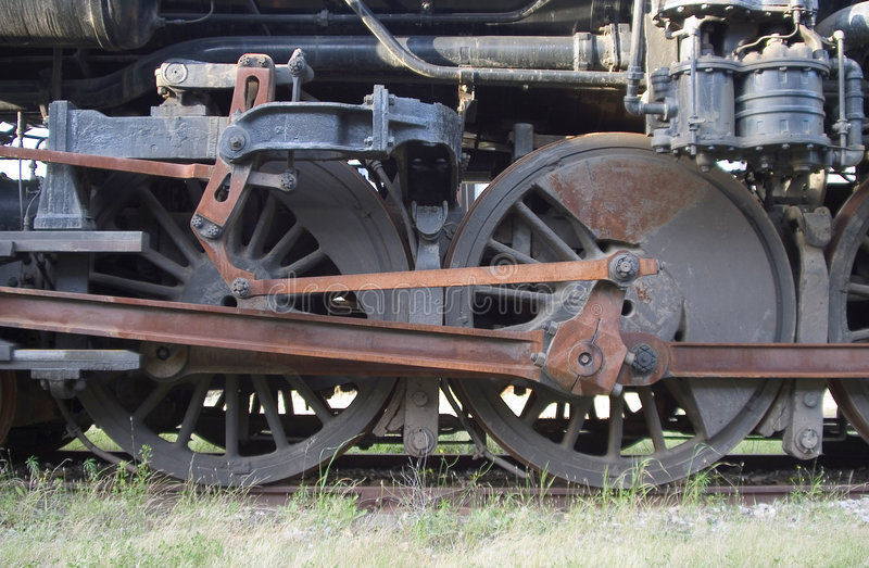 Roues locomotives photos stock