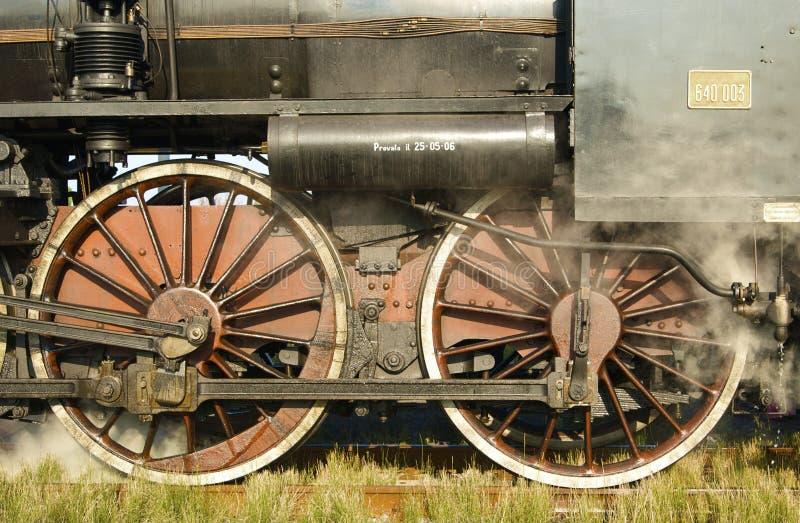 roues locomotives image libre de droits