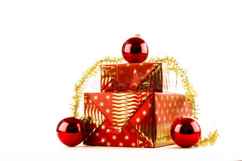Rougeâtre d'or de Noël image libre de droits