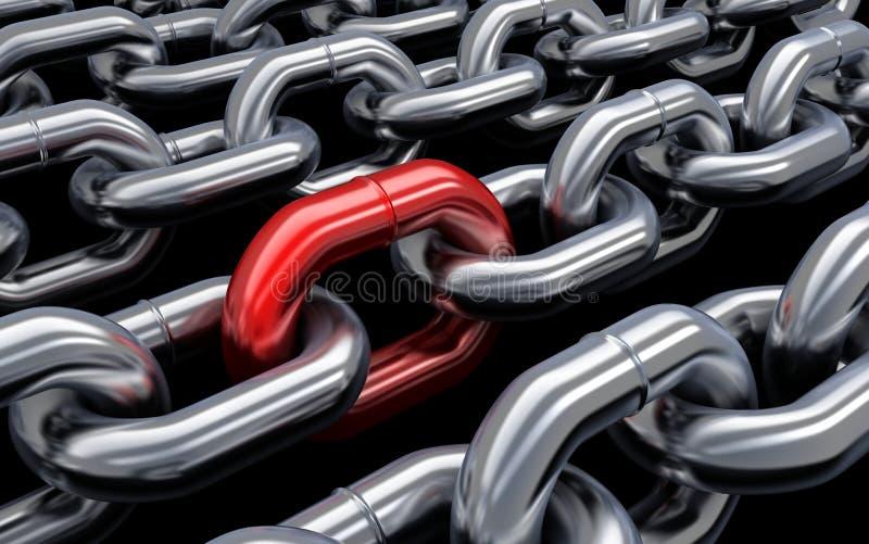 Rouge à chaînes illustration libre de droits
