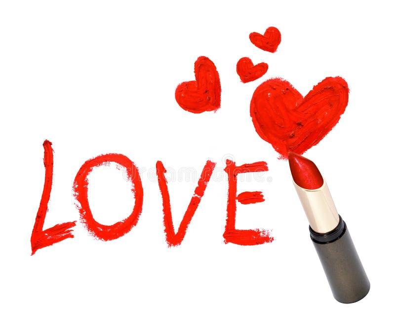 Rouge à lèvres d'inscription photo libre de droits