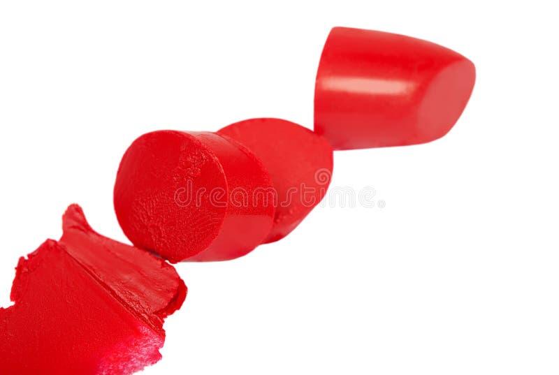 Rouge à lèvres rouge, d'isolement photos libres de droits