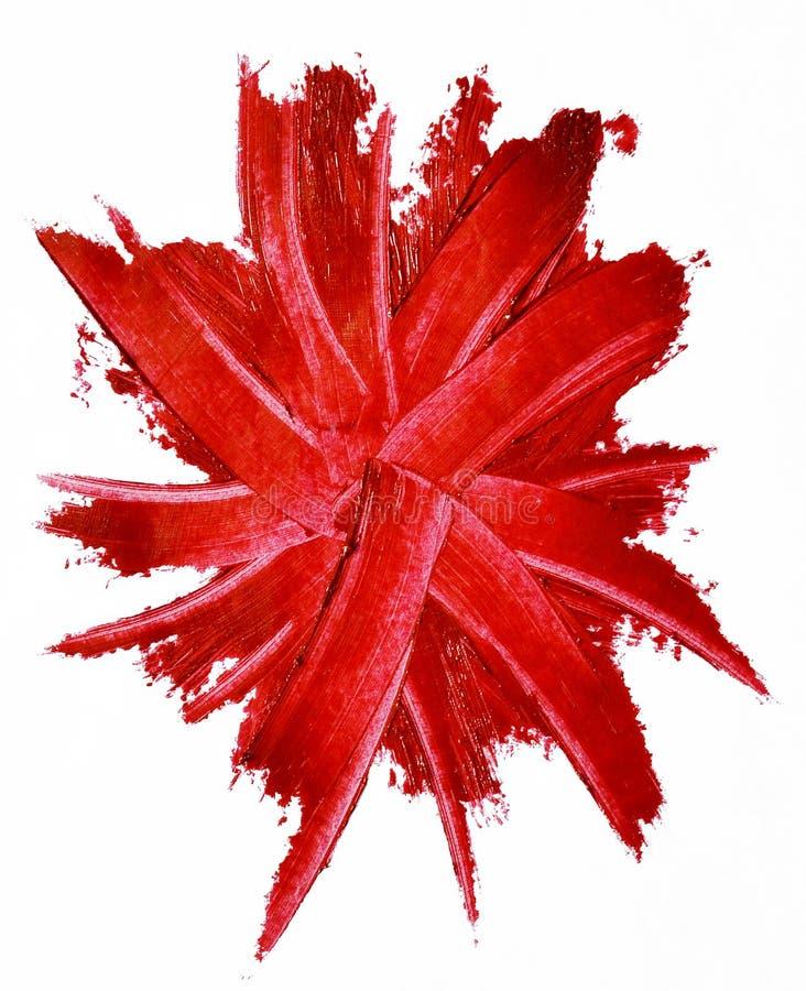 Rouge à lèvres rouge taché d'isolement photos libres de droits